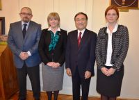 His Excellency Mr. Ide, the Ambassador of Japan to the Republic of Croatia holds a lecture at Zagreb Law